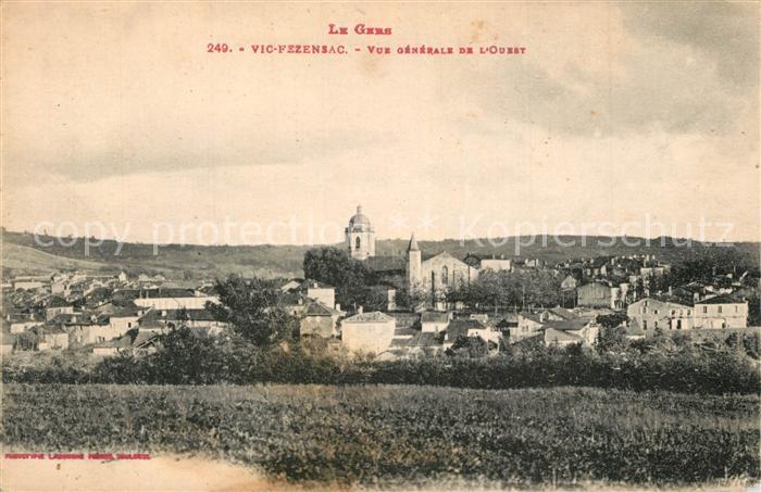 Gers Vic Fezensac Vue generale de l Ouest Gers