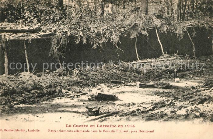 Herimenil Retranchements allemands dans le Bois du Frehaut Herimenil