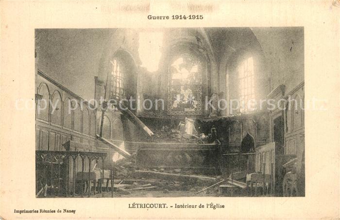 Letricourt Interieur de l Eglise Letricourt