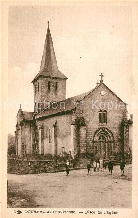 Dournazac Place de l Eglise Dournazac