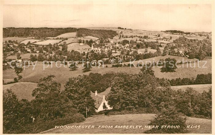 Woodchester from Amberley near Stroud Woodchester