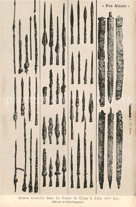 Alise Sainte Reine_Alesia(Roman War) Armes trouvees dans les fosses de Cesar a Alise