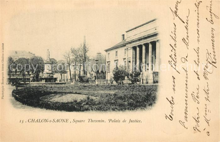 Chalon sur Saone Square Thevenin Palais de Justice Chalon sur Saone