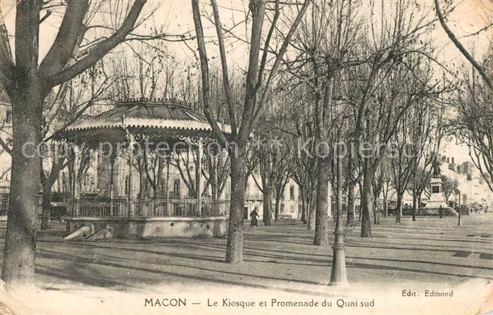 Macon_Saone et Loire Le Kiosque et Promenade du Quai sud Macon Saone et Loire