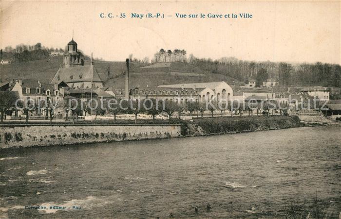 Nay_Pyrenees Atlantiques Vue sur le Gave et la Ville Nay_Pyrenees Atlantiques
