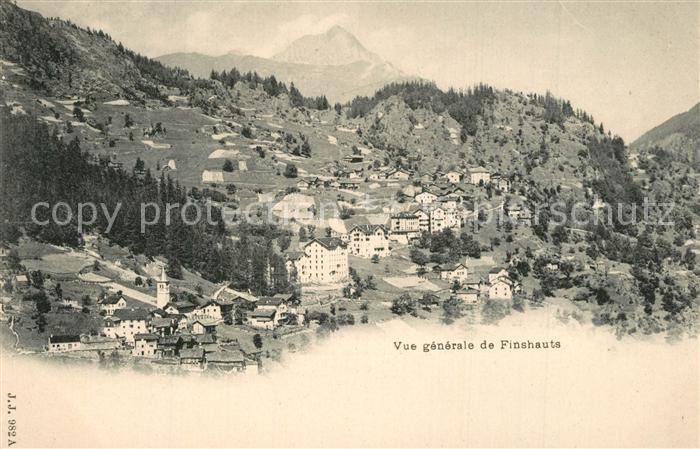 Valais_Wallis_Kanton Vue generale de Finshauts Valais_Wallis_Kanton