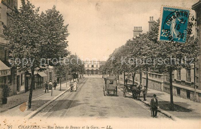 Chartres_Eure_et_Loir Rue fehan de Beauce et la Gare Chartres_Eure_et_Loir