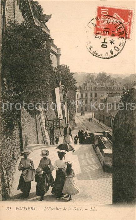 Poitiers_Vienne Escalier de la Gare Poitiers Vienne