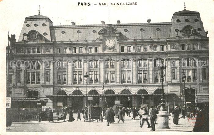 Paris Gare Saint Lazare Bahnhof Paris