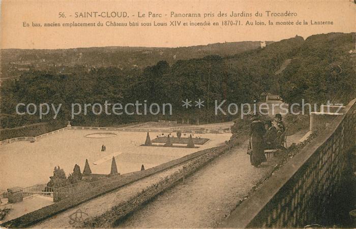 Saint_Cloud Le Parc vue prise des Jardins du Trocadero Saint Cloud