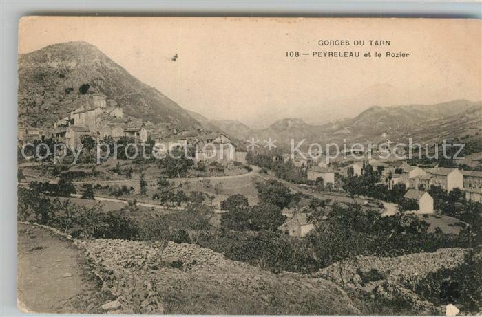 Peyreleau Panorama Gorges du Tarn le Rozier Peyreleau