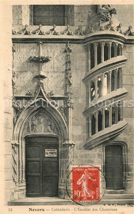 Nevers_Nievre Cathedrale Escalier des Chanoines Nevers Nievre