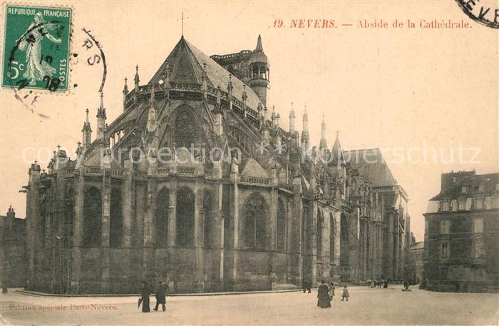 Nevers_Nievre Abside de la Cathedrale Nevers Nievre