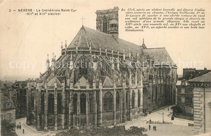 Nevers_Nievre Cathedrale Saint Cyr Nevers Nievre