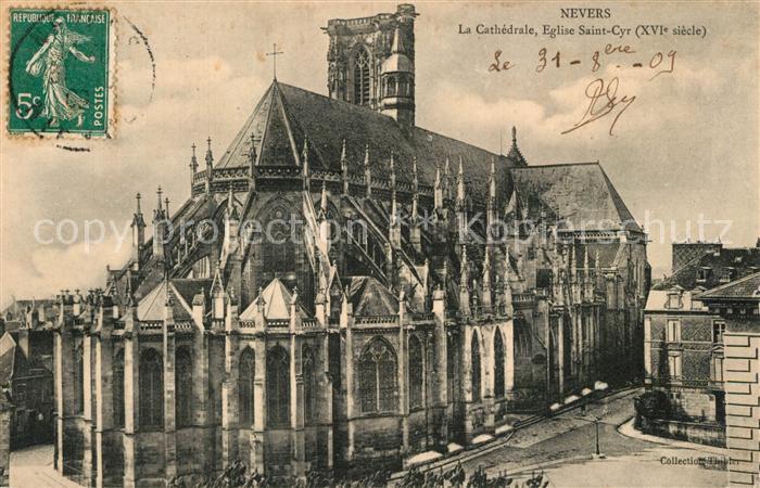 Nevers_Nievre Cathedrale Eglise Saint Cyr XVIe siecle Nevers Nievre