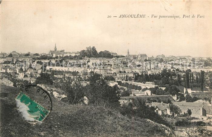 Angouleme Vue panoramique Pont de Vars Angouleme