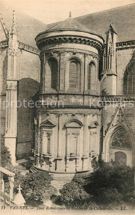 Vannes Tour Renaissance et Cloitre de la Cathedrale Vannes