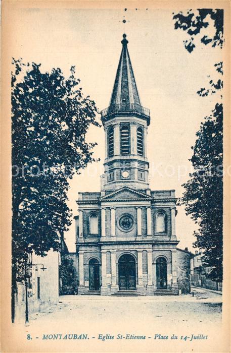 Montauban_Tarn et Garonne Eglise St Etienne Place du 14 Juillet