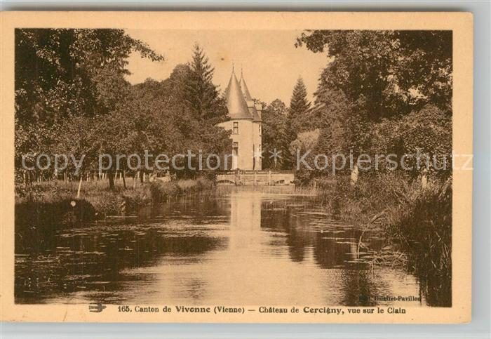 Vivonne Chateau de Cercigny Clain Vivonne
