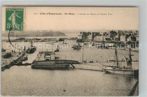 Saint Malo_Ille et Vilaine_Bretagne Entree du Bassin Avant Port  Saint Malo_Ille et Vilaine