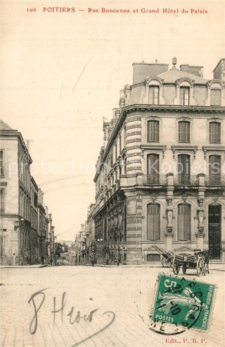 Poitiers_Vienne Rue Boncenne et Grand Hotel du Palais Poitiers Vienne