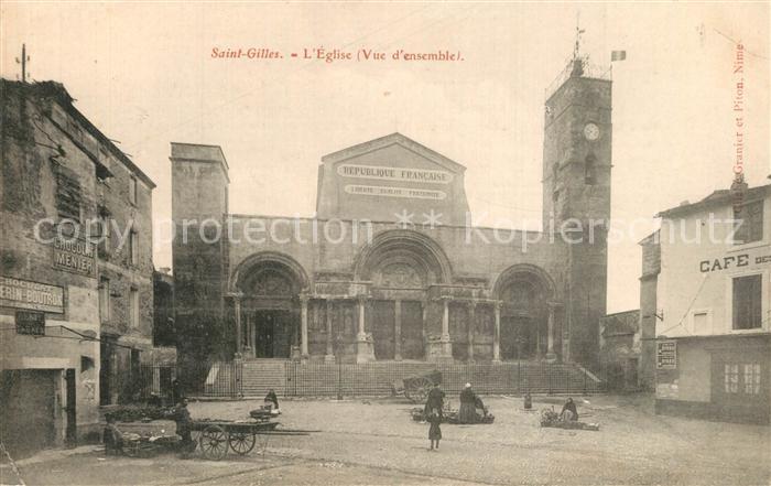 Saint Gilles_Gard Eglise Vue d ensemble Saint Gilles_Gard
