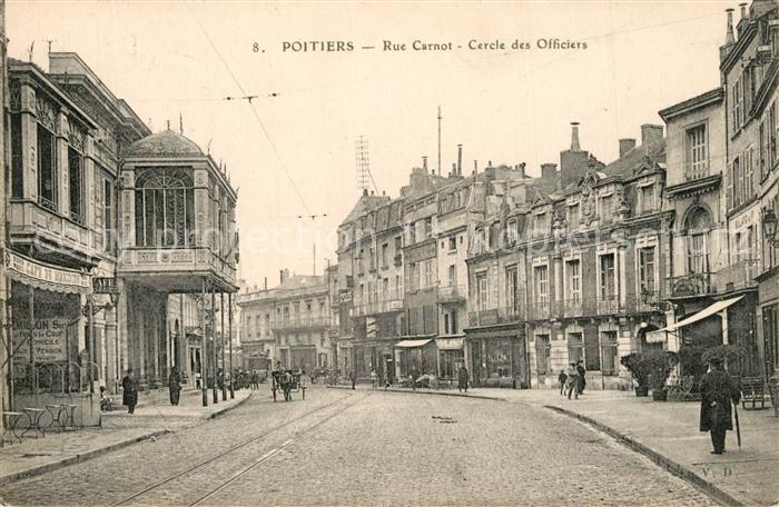Poitiers_Vienne Rue Carnot Cercle des Officiers Poitiers Vienne