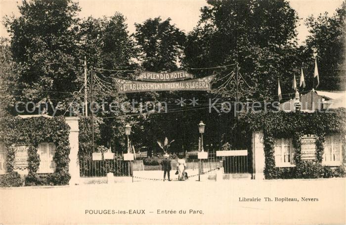 Pougues les Eaux Entree du Parc Pougues les Eaux