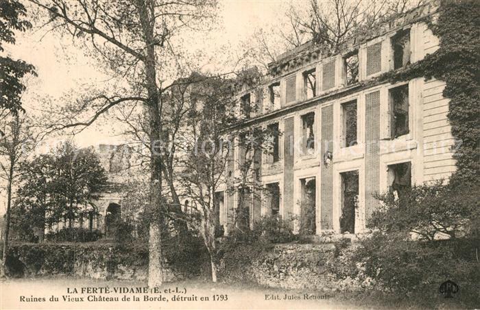La_Ferte Vidame Ruines du Vieux Chateau de la Borde detruit en 1793 La_Ferte Vidame