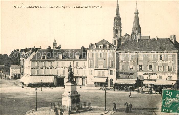 Chartres_Eure_et_Loir Place des Epars Statue de Marceau Chartres_Eure_et_Loir