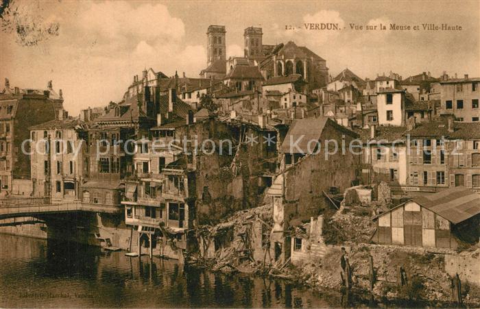Verdun_Meuse Vue sur la Meuse et Ville Haute Verdun Meuse