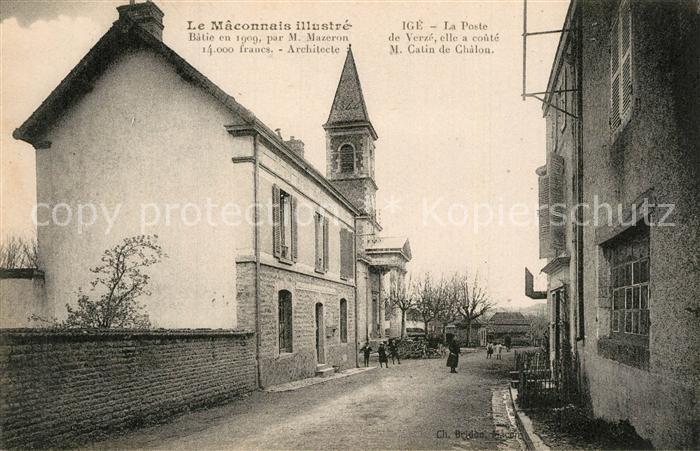 Macon_Saone et Loire IGE La Poste de Verze Macon Saone et Loire