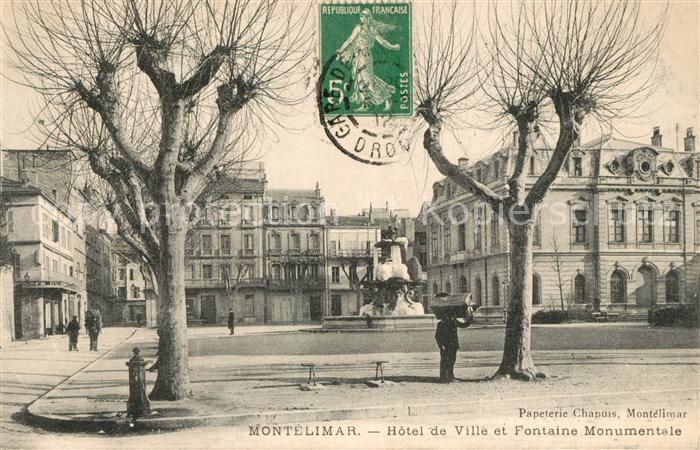 Montelimar Hotel de Ville et Fontaine Monumentale Montelimar