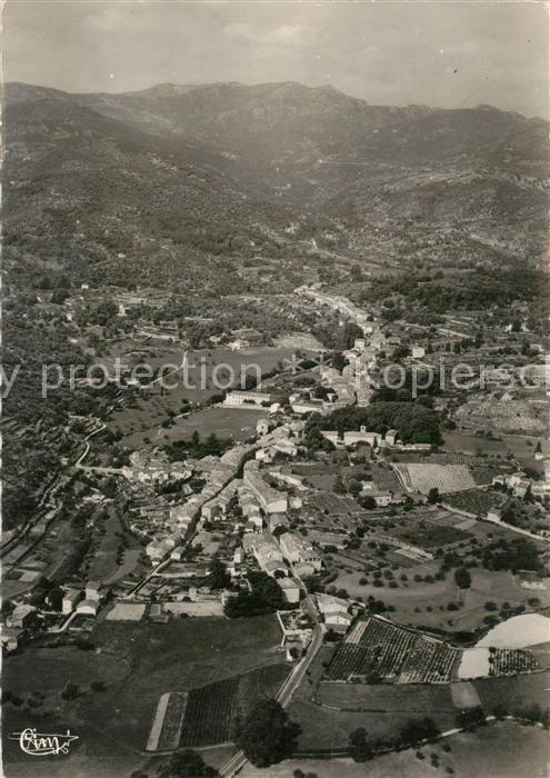 Lasalle Vue aerienne panoramique de la Ville la Valle de la Salindringue et les Monts de Cevennes Lasalle