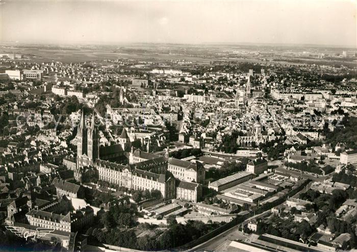 Caen Abbaye aux Hommes et Vue generale aerienne Caen