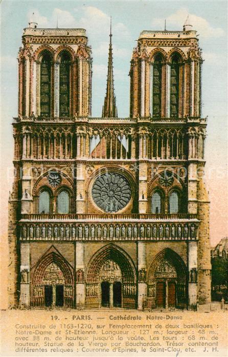 Paris Cathedrale Notre Dame Paris