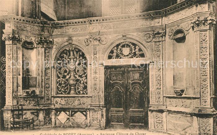 Rodez Cathedrale ancienne Cloture du Choeur Rodez