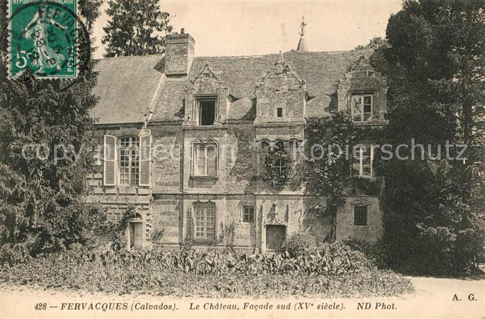 Fervaques Chateau facade sud XVe siecle Fervaques