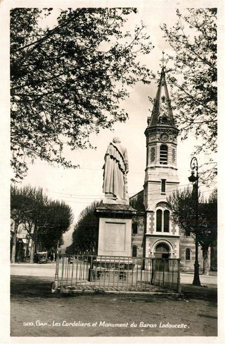 Gap_Hautes Alpes Eglise Saint Andre les Cordeliers et Monument du Baron Ladoucette Gap_Hautes Alpes