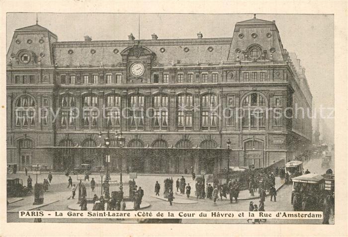 Paris Gare Saint Lazare Rue d Amsterdam Paris