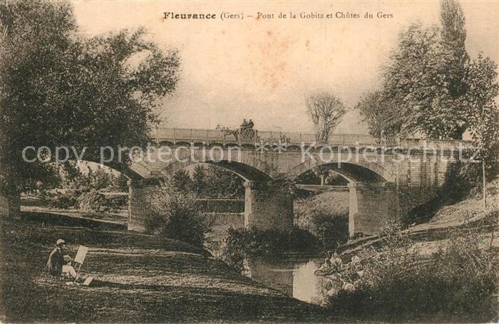 Fleurance Pont de la Gobitz et Chûtes du Gers Fleurance