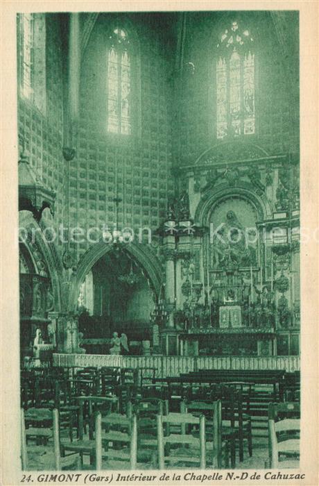 Gimont Interieur de la Chapelle Notre Dame de Cahuzac Gimont