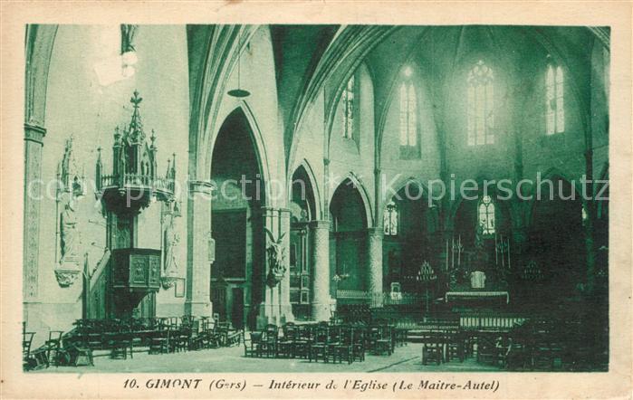 Gimont Interieur de l Eglise le Maitre Autel Gimont