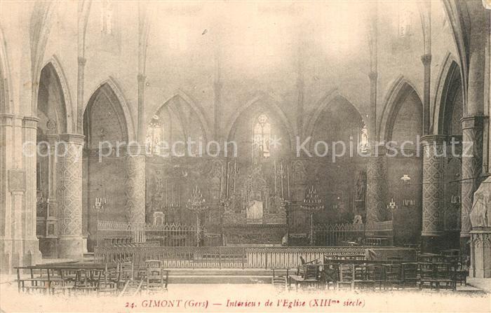 Gimont Interieur de l Eglise XIIIe siecle Gimont