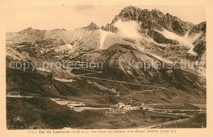 Col_du_Lautaret Les lacets du Galibier et le Grand Galibier Gebirgspass Alpen Col_du_Lautaret