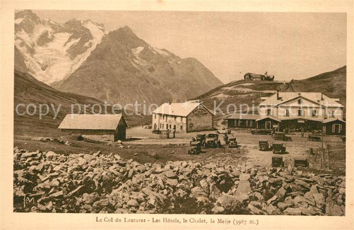 Col_du_Lautaret Les Hotels Chalet et la Meije Alpes Francaises Gebirgspass Alpen Col_du_Lautaret