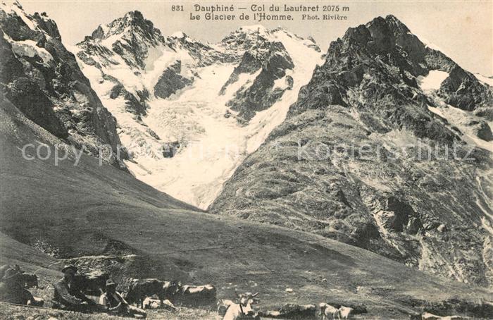 Col_du_Lautaret Glacier de l Homme Alpes Francaises Gletscher Franzoesische Alpen Col_du_Lautaret
