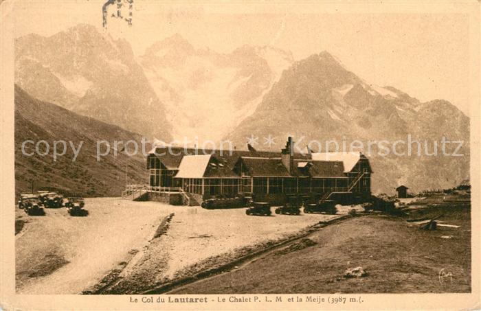 Col_du_Lautaret Chalet P.L.M. et la Meije Alpes Dauphine Gebirgspanorama Franzoesische Alpen Col_du_Lautaret