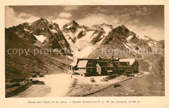 Col_du_Lautaret Routes des Alpes et du Jura Chalet Restaurant P.L.M. Gebirgspass Franzoesische Alpen Gletscher Col_du_Lautaret