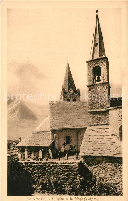 La_Grave Eglise et la Meije Alpes Francaises La_Grave